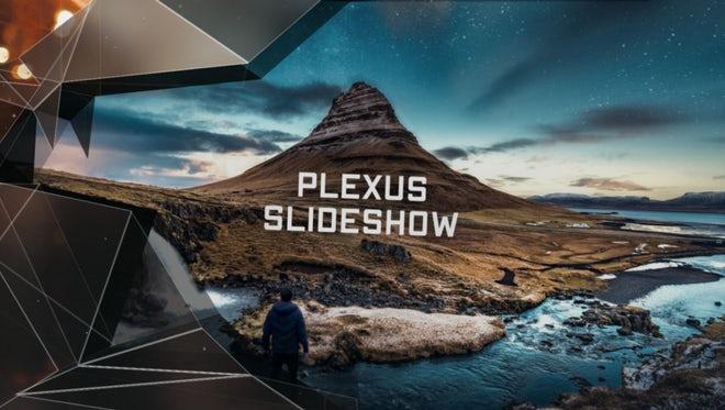 Slideshow Premiere - Elegant Plexus: Premiere Pro Templates