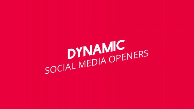 Dynamic Social Media Intro: Motion Graphics Templates