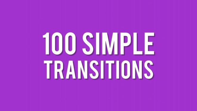 100 Simple Transitions: Stock Motion Graphics