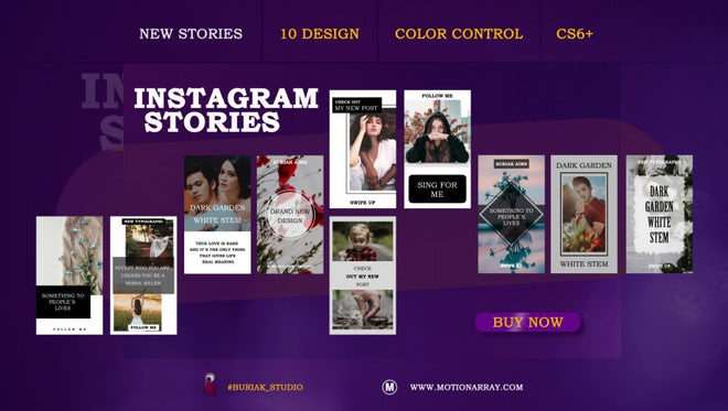 New Instagram Stories: After Effects Templates