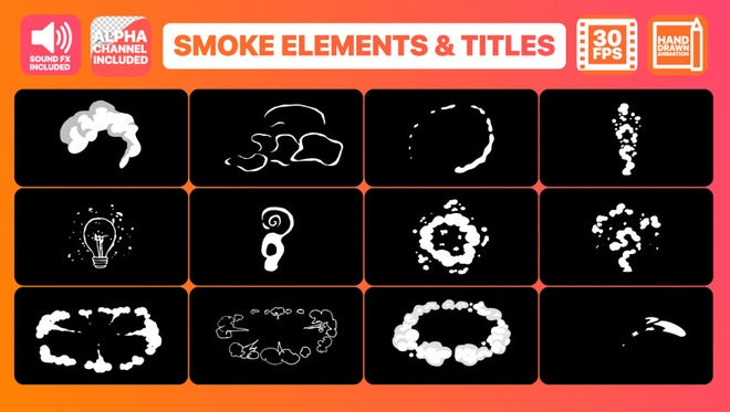 Flash FX Smoke Elements And Titles: After Effects Templates