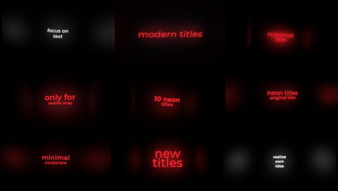 Neon Titles: Motion Graphics Templates