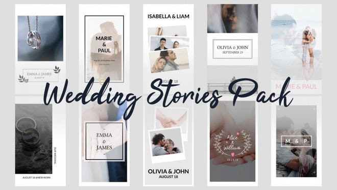 Wedding Stories Pack: Premiere Pro Templates