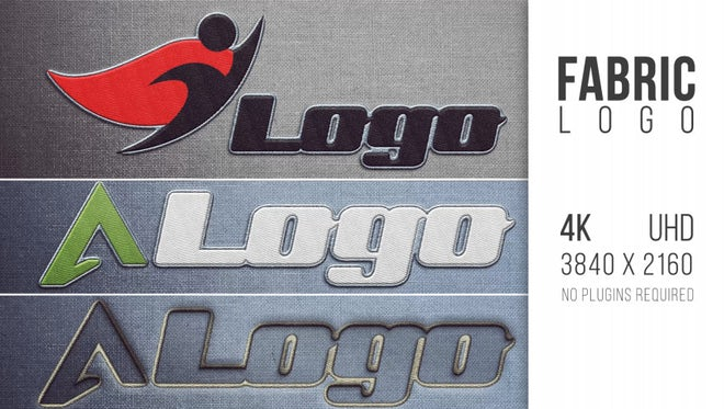 Fabric Logo: After Effects Templates