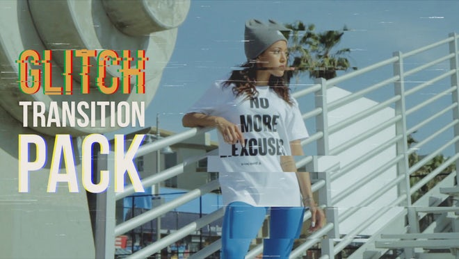 Glitch Transition Pack: Premiere Pro Presets