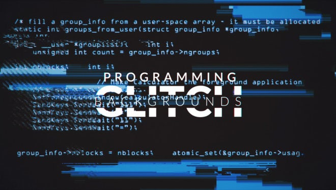 Programming Glitch Backgrounds Pack : Stock Motion Graphics
