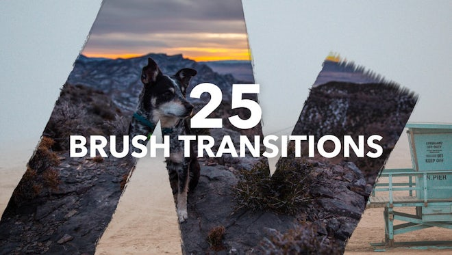 Brush Transitions Pack: Stock Motion Graphics
