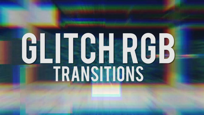Glitch RGB Transitions: Premiere Pro Templates