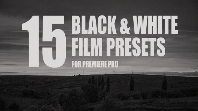 15 Black & White Films Presets : Premiere Pro Presets