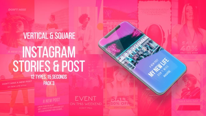 Instagram Stories Pack 3: After Effects Templates