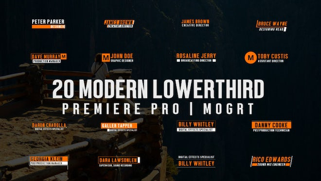 20 Modern Lower Thirds: Motion Graphics Templates