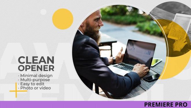 Clean Opener: Premiere Pro Templates