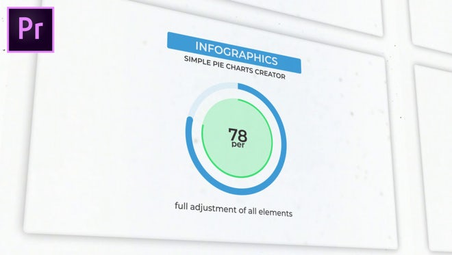 Infographics: Simple Pie Charts Creator: Motion Graphics Templates