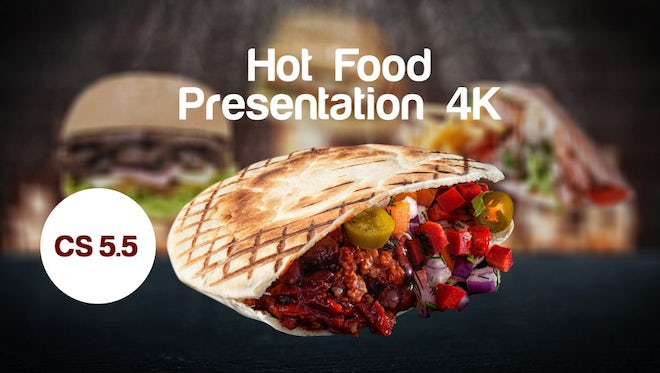 Hot Food Presentation 4K: After Effects Templates