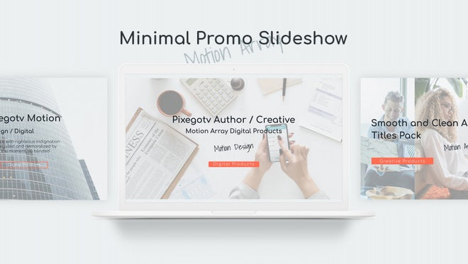 Minimal Promo Slideshow: After Effects Templates