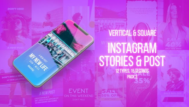 Instagram Stories Pack 3: Motion Graphics Templates