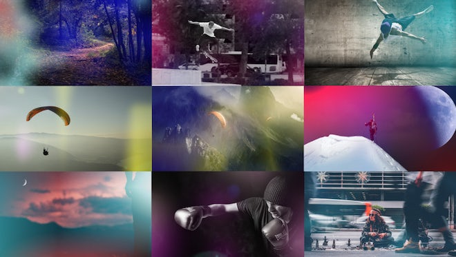 30 Light Leak Elements: After Effects Templates