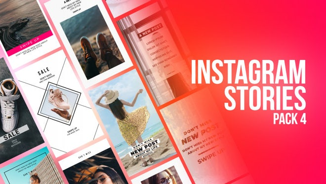 Instagram Stories Pack 4: Motion Graphics Templates