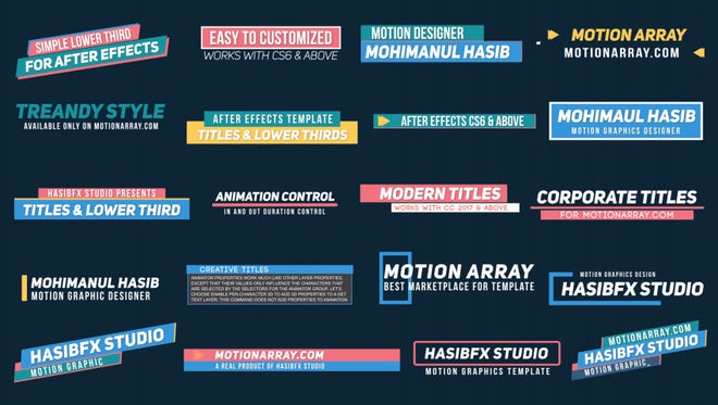 lower thirds after effects templates motion array