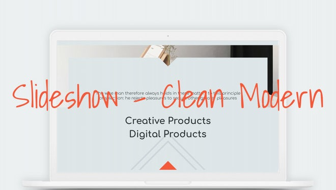 Slideshow - Clean Modern: After Effects Templates