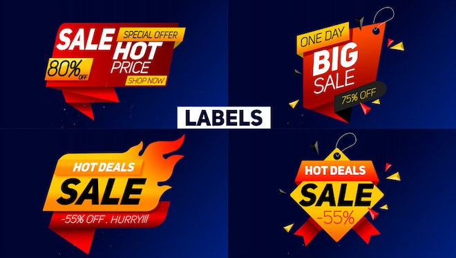 Sale Label: After Effects Templates