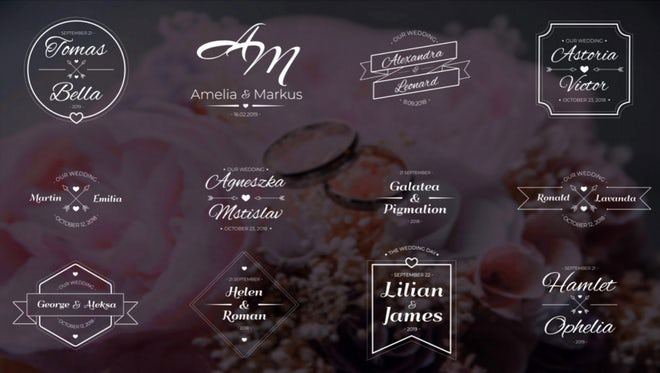 12 Wedding Titles: After Effects Templates