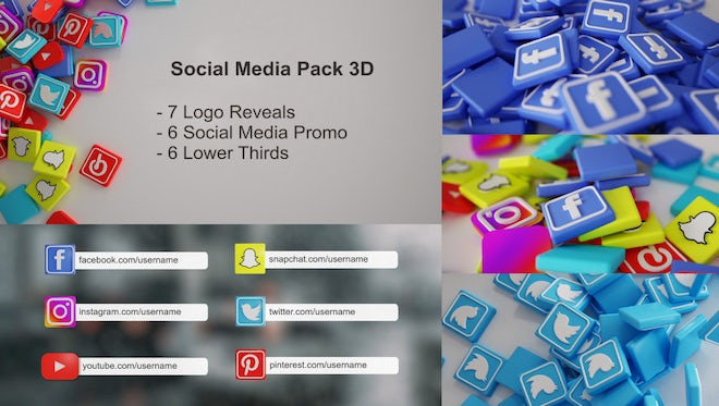 Social Media Promo Bundle 3D: After Effects Templates