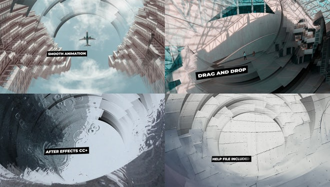 Animated Circles Parallax Slideshow: After Effects Templates