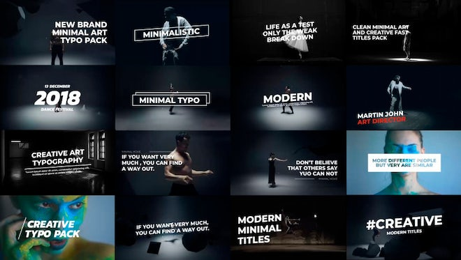 Minimal Art Titles: After Effects Templates