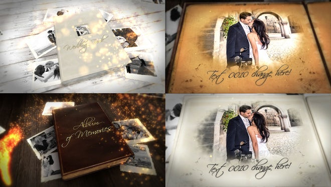 Album of Memories and Wedding Book Bundle: After Effects Templates