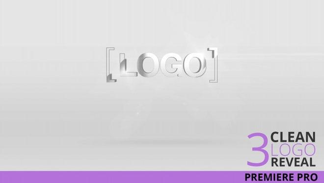 3 Clean Minimal Logo: Premiere Pro Templates