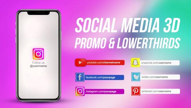 Social Media 3D Promo & Lowerthirds: Premiere Pro Templates