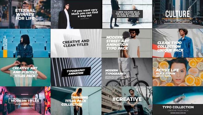 Trendy Titles Pack: After Effects Templates