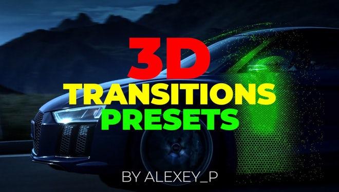 3D Transitions Presets: Premiere Pro Presets