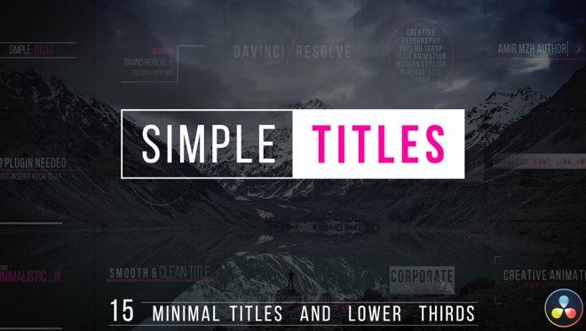 Simple Titles - DaVinci Resolve Templates | Motion Array