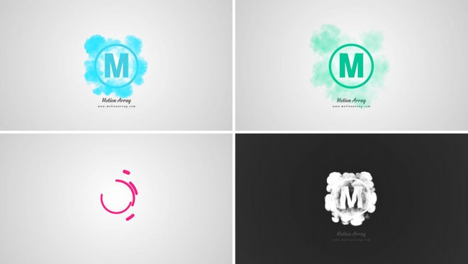 Smoke Shape Logo: After Effects Templates