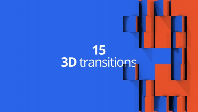 3D Transitions: After Effects Templates