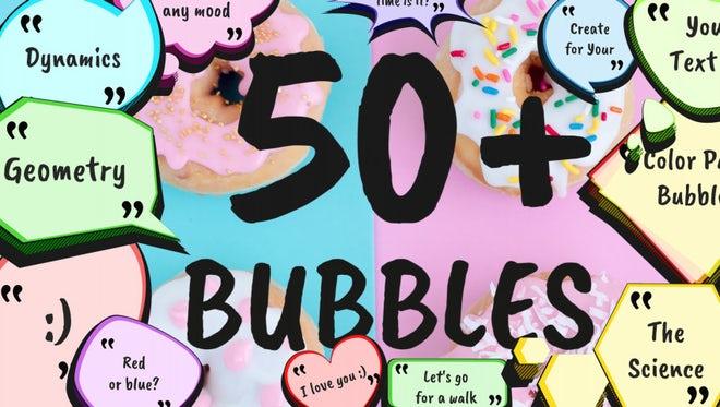Cartoon Speech Bubbles Pack: Premiere Pro Templates