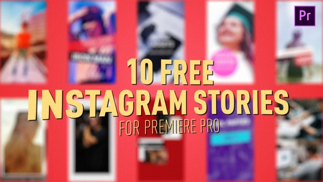 Free Instagram Stories: Premiere Pro Templates