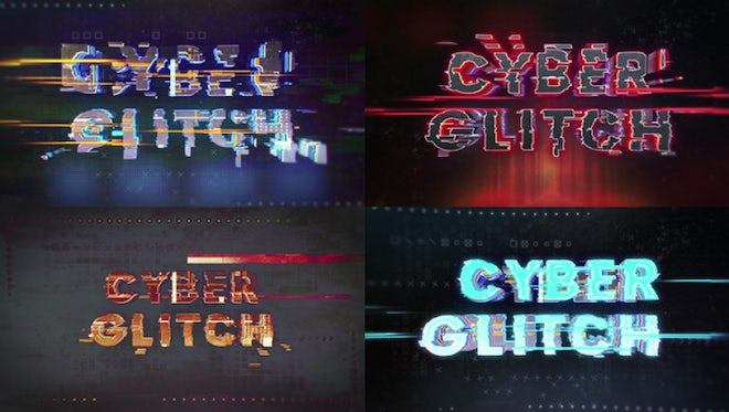Cyber Glitch Logo: After Effects Templates