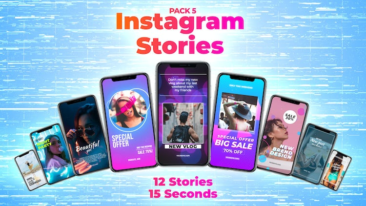 Instagram Stories Pack 5: After Effects Templates