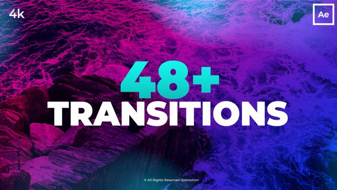 48+ Modern Transitions: After Effects Templates