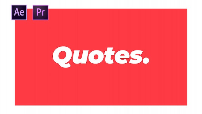Quotes: Motion Graphics Templates