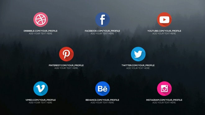 Animated Social Icons and Openers: Motion Graphics Templates