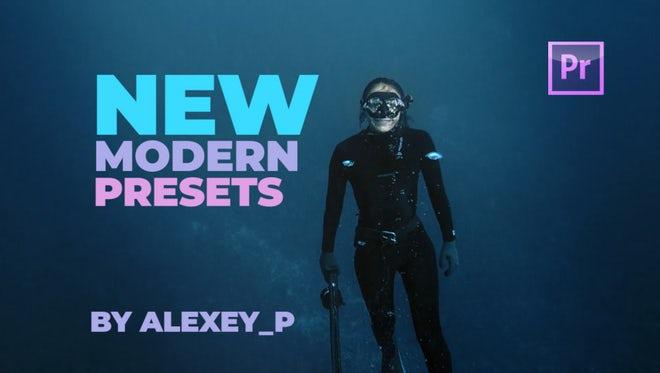 Modern Transitions Presets: Premiere Pro Presets