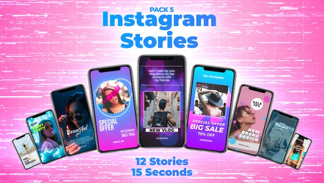 Instagram Stories Pack 5: Motion Graphics Templates