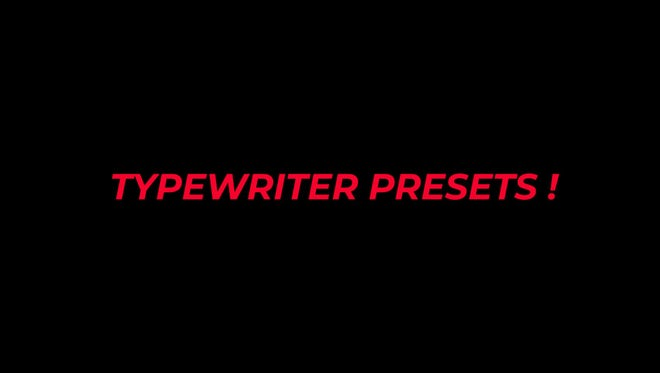 Typewriter Text Animation Presets: After Effects Presets