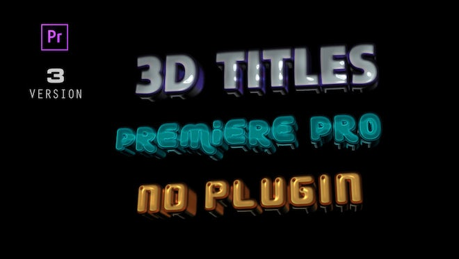 3D Titles Animations: Motion Graphics Templates
