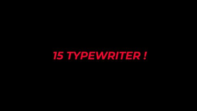 Typewriter: Motion Graphics Templates