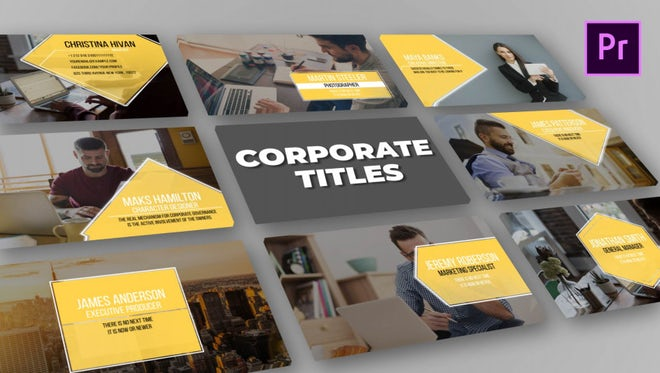 Corporate Titles: Motion Graphics Templates